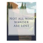 No todos que Wander se pierde Tarjetas Postales