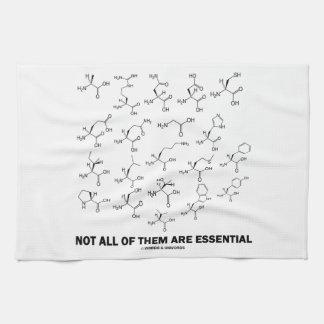 No todos son esenciales (20 aminoácidos) toalla
