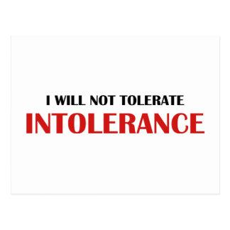 No toleraré Intollerance Tarjeta Postal