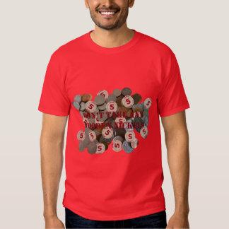 No tome a ninguna níqueles de madera la camiseta playeras