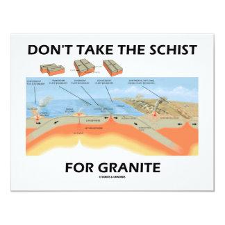 No tome el esquisto para el granito (el humor de invitación 10,8 x 13,9 cm
