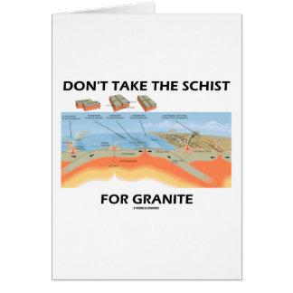 No tome el esquisto para el granito (el humor de l felicitación