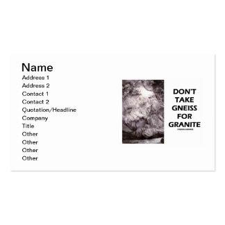 No tome el gneis para el granito (el humor de la tarjetas de visita