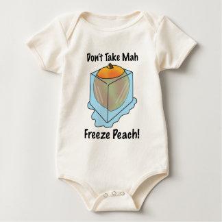 ¡No tome el melocotón del helada del Mah! Mameluco De Bebé