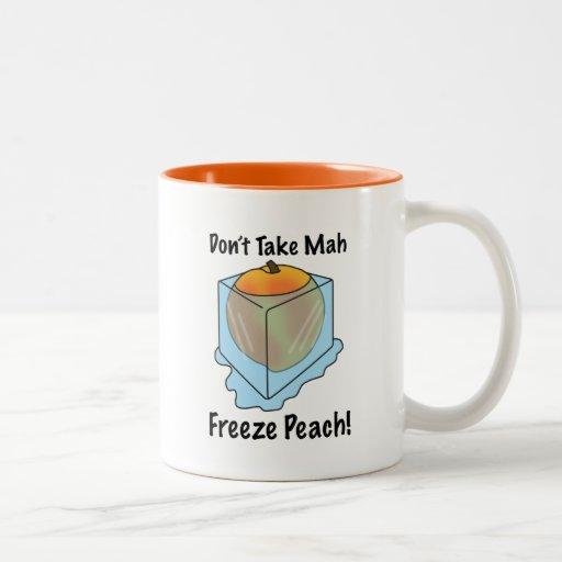 ¡No tome el melocotón del helada del Mah! Taza De Café