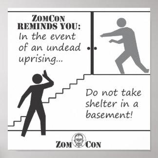 No tome el refugio en un sótano posters
