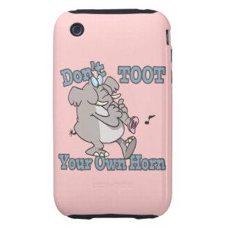 no toot su propio dibujo animado del elefante del tough iPhone 3 cárcasa