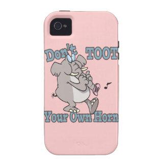 no toot su propio dibujo animado del elefante del vibe iPhone 4 carcasa