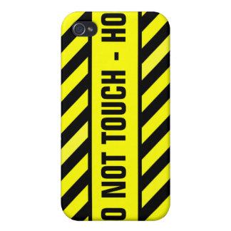 NO TOQUE - CALIENTE iPhone 4 CARCASA