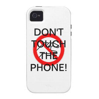 ¡NO TOQUE EL TELÉFONO! - caso del iPhone 4 iPhone 4/4S Fundas