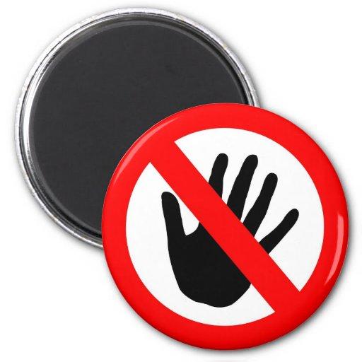 No toque imán para frigorifico