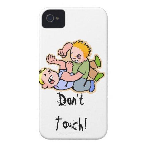 ¡No toque! iPhone 4 Case-Mate Carcasa