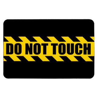 No toque la policía aventuran rayas amarillas negr imanes