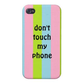 No toque mi caso del iphone 4 del teléfono iPhone 4/4S carcasas