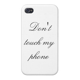 No toque mi teléfono - el blanco - iPhone 4 protectores