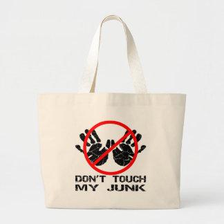 No toque mis desperdicios Handprint Bolsas Lienzo