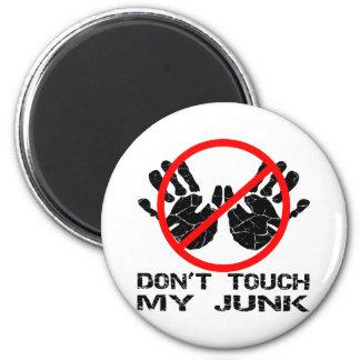 No toque mis desperdicios Handprint Imán Redondo 5 Cm