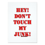 ¡No toque mis desperdicios! Comunicado Personalizado