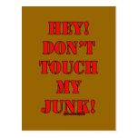 ¡No toque mis desperdicios! Postales