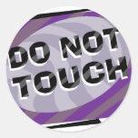 No toque pegatina redonda