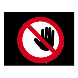 ¡No toque!!! Postal