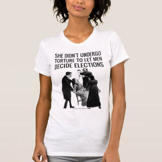 No torturado para la apatía de votación camisetas
