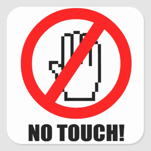 No Touch Sticker Zazzle