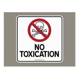 NO TOXICATION POSTCARD