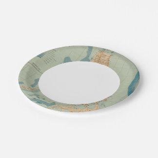 No trace ningún 4 orográfico plato de papel de 7 pulgadas