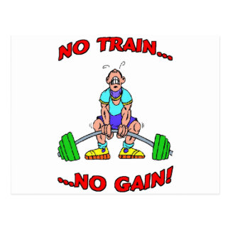No Train No Gain Postcards