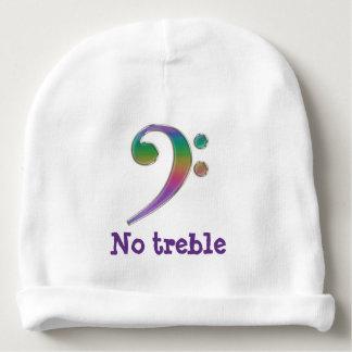 No Treble Rainbow Bass Clef Baby Beanie