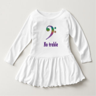 No Treble Rainbow Bass Clef Dress