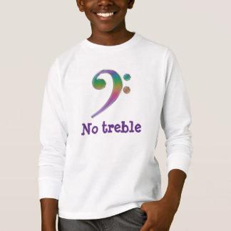 No Treble Rainbow Bass Clef T-Shirt
