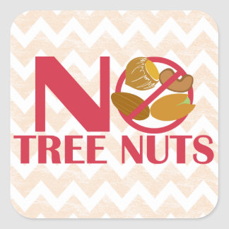 No Tree Nuts Food Allergy Alert Stickers