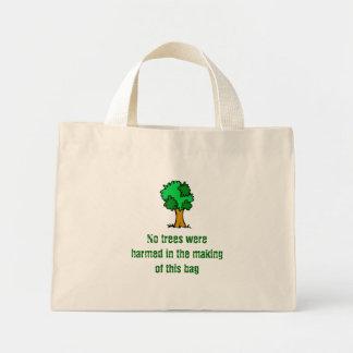 No Trees Were Harmed Mini Tote Bag