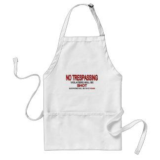 No Trespassing Adult Apron