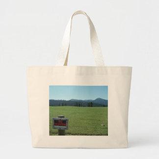 no trespassing bag