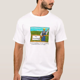 No Trespassing Cartoon T-shirt