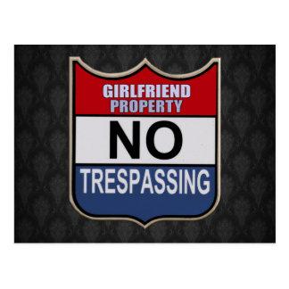 NO TRESPASSING - GIRLFRIEND POSTCARD