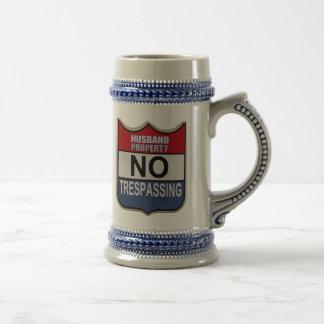 NO TRESPASSING - HUSBAND BEER STEIN