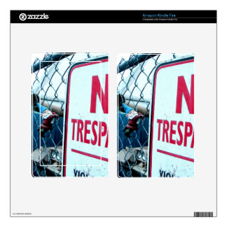 No Trespassing Kindle Fire Skin