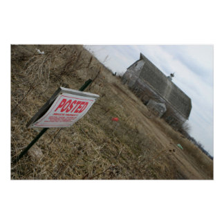No Trespassing Old Wood Barn Poster