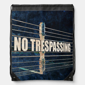 No Trespassing Backpacks