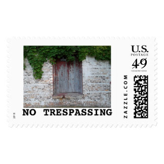 NO TRESPASSING POSTAGE