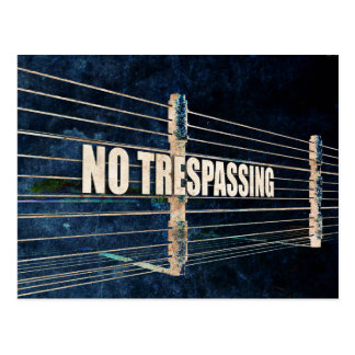 No Trespassing Postcard