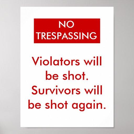 No Trespassing Posters