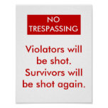No Trespassing Posters
