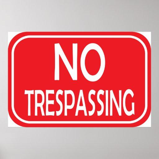 NO TRESPASSING PRINT