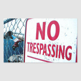 No Trespassing Rectangular Sticker