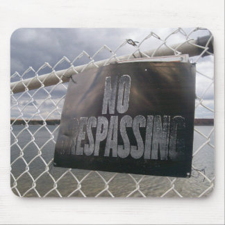 No Trespassing sign lake ocean Mouse Pad